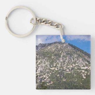 Montaña del sur de la cascada del lago Tahoe Llavero Cuadrado Acrílico A Una Cara