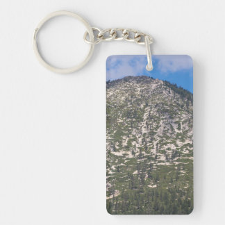Montaña del sur de la cascada del lago Tahoe Llavero Rectangular Acrílico A Una Cara