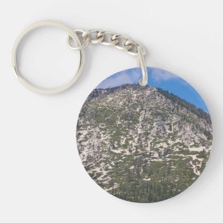 Montaña del sur de la cascada del lago Tahoe Llavero Redondo Acrílico A Una Cara
