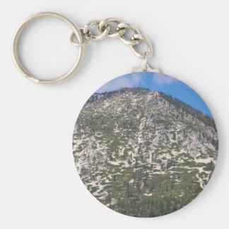 Montaña del sur de la cascada del lago Tahoe Llavero Redondo Tipo Pin