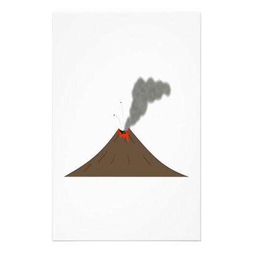 Montaña del volcán papelería de diseño