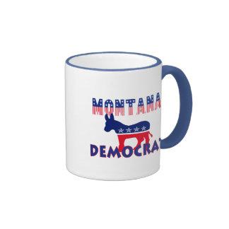 Montana Democrat Ringer Coffee Mug