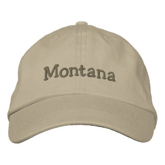 Montana Embroidered Baseball Cap / Hat Khaki