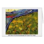 Montaña en el Salida del sol-Paisaje de Vincent va Tarjetón