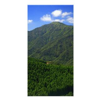 Montaña en las islas de Azores Tarjeta Con Foto Personalizada