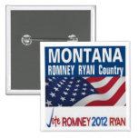 MONTANA es botón del país de Romney Ryan Pins