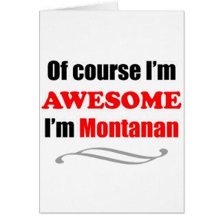 Montana es impresionante tarjeta de felicitación