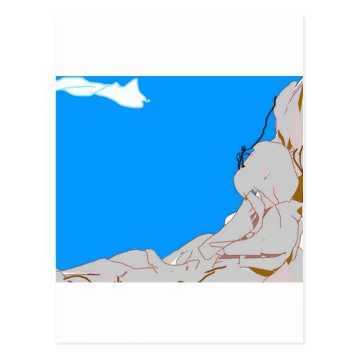 montaña-escalador 1 tarjetas postales