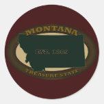 Montana Est. 1889 Pegatina Redonda