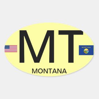 Montana* Euro-style Oval Sticker