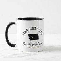 Montana Farm Sweet Farm Family Monogram Mug