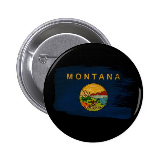 Montana Flag 2 Inch Round Button