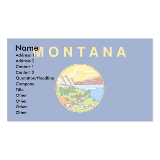 Montana Flag Double-Sided Standard Business Cards (Pack Of 100)