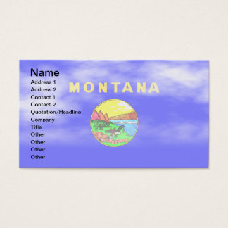 MONTANA FLAG BUSINESS CARD