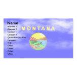 MONTANA FLAG BUSINESS CARD TEMPLATE