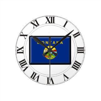 Montana Flag Clocks