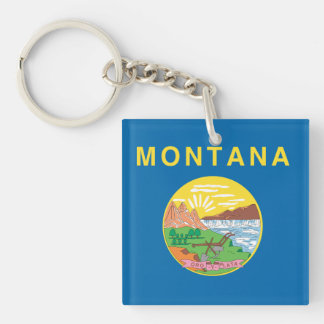 MONTANA Flag Design - Keychain