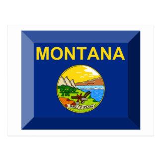 Montana Flag Gem Postcard