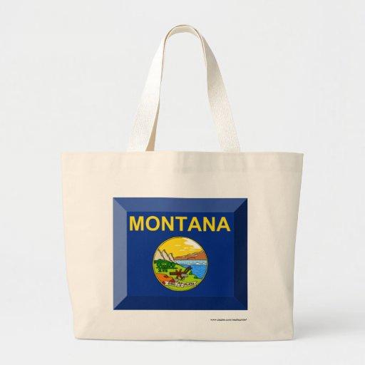 Montana Flag Gem Tote Bag