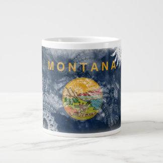 Montana Flag Giant Coffee Mug