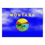 MONTANA FLAG GREETING CARD