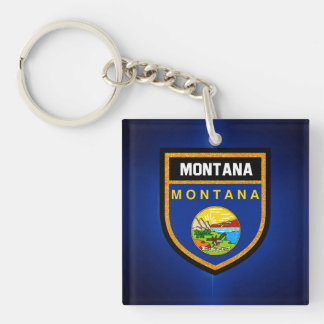 Montana  Flag Keychain