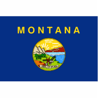Montana Flag Keychain Cut Out