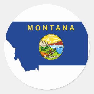 Montana Flag Map Classic Round Sticker