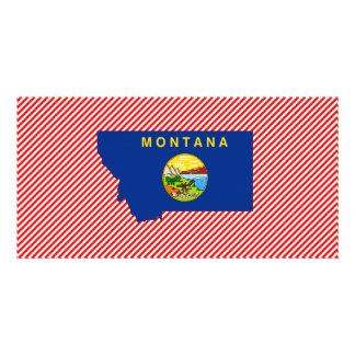 Montana Flag Map Custom Photo Card