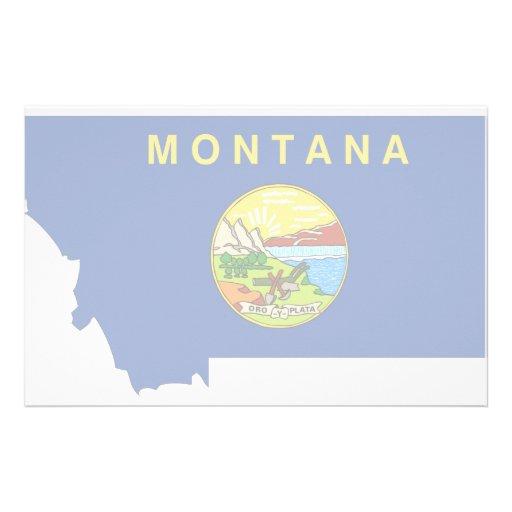 Montana Flag Map Stationery