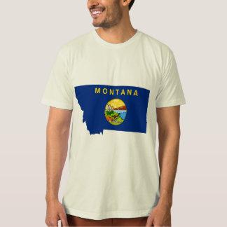 Montana Flag Map T Shirt