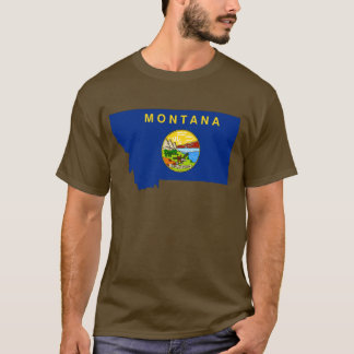 Montana Flag Map T-Shirt