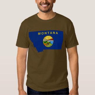 Montana Flag Map Tee Shirt