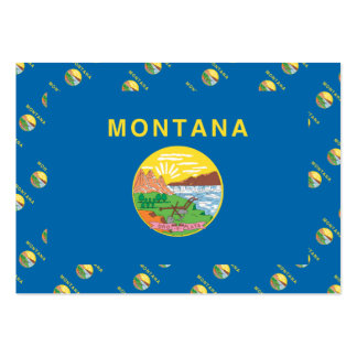 MONTANA Flag Pattern Business Card Template