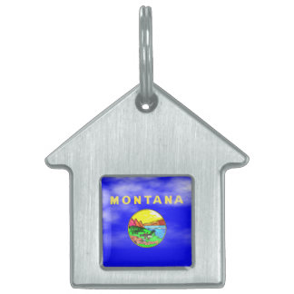 MONTANA FLAG PET ID TAG