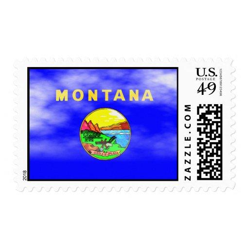 MONTANA FLAG POSTAGE STAMP