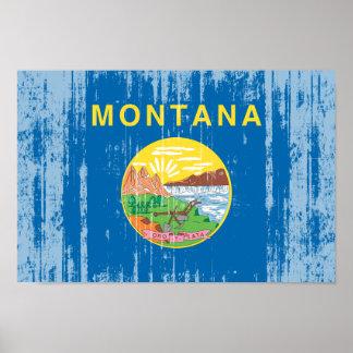 MONTANA Flag Poster
