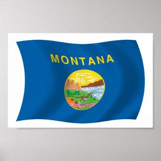 Montana Flag Poster Print