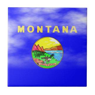 MONTANA FLAG SMALL SQUARE TILE