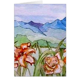 Montaña floral - arte de CricketDiane Tarjeta De Felicitación