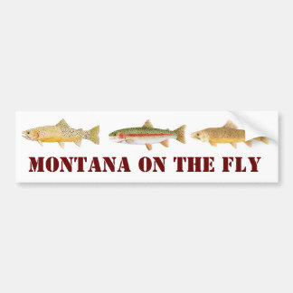 Fly fishing stickers zazzle for Fishing car stickers