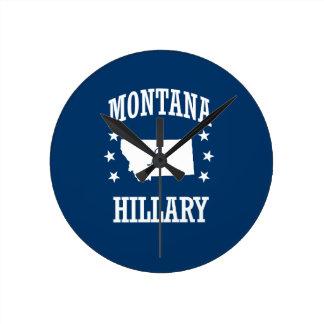 MONTANA FOR HILLARY ROUND CLOCKS