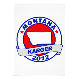 Montana Fred Karger Personalized Invites