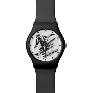 Montaña fresca personalizada de la snowboard reloj de mano