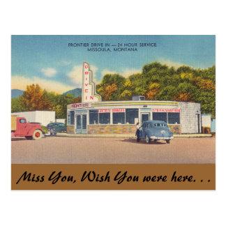 Montana, Frontier Drive-In, Missoula Postcard