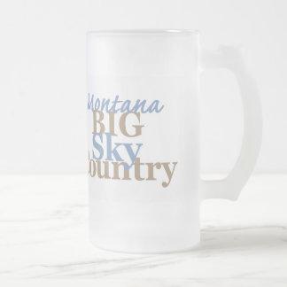 MONTANA FROSTED GLASS BEER MUG