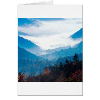 Montaña Gap Newfound gran Tennessee ahumado Tarjeta De Felicitación