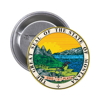 Montana Great Seal Pinback Button