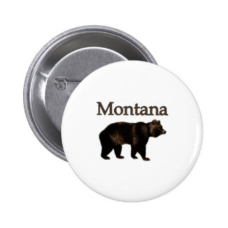 Montana Grizzly Bear Pinback Button