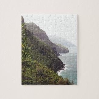 Montaña hawaiana de la playa rompecabezas con fotos